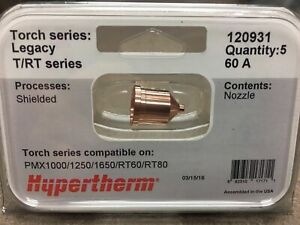 Hypertherm Genuine Nozzles 120931 Powermax 1000 1250 1650 Rt60 Rt80 Plasma 60a