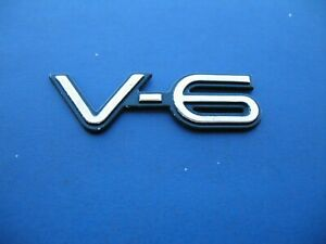 Pontiac V6 Grand Am Grand Prix Emblem Logo Badge Sign Symbol Used Oem 1915