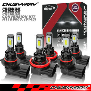 Fit For 2015 2020 Ford F 150 Led Front Headlight High Low Beam Fog Light Bulbs