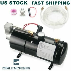 150psi Air Compressor With 3 Liter Tank Dc 12v For Train Horns Motorhome Tires