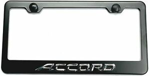 3d Accord Emblem Stainless Steel License Plate Tag Frame Cover Caps For Honda