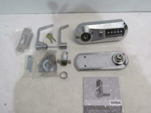 Kaba 5021xswl 26d 41 Cylindrical Push Button Lock With Lever Xs Ko Us26d Chrome