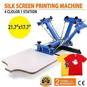 4 Color 1 Station Silk Screen Printing Machine T shirt Screen Press Equipment