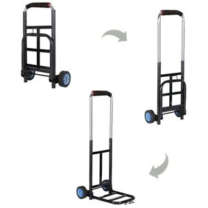 Portable Cart Foldabl Dolly Collapsible Trolley Luggage Push Hand Truck Shopping