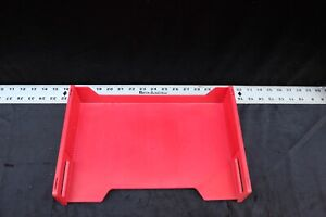 Vintage Eldon Stackable Paper Trays Organizer 8 Red Nice Ships Free