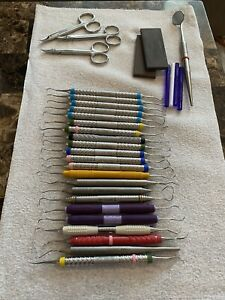 32 Dental Instrument Lot Scalers Currettes Etc Hu Friedy Other Brands
