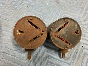 Antique Set Vintage Signal Stat Usa Arrow Turn Signals 6 Volt Truck auto Rat Ro