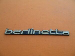 Chevrolet Camaro Berlinetta Emblem Logo Badge Sign Symbol Used Vintage A11982