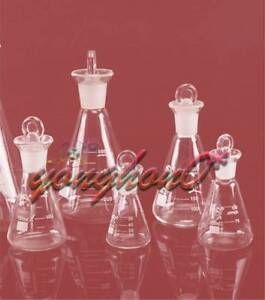 50 100 150 250ml Glass Erlenmeyer Flask Conical Bottle Lab Chemistry Glassware