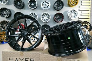 New 20 Inch 5x114 3 Haxer Black Concave Wheels For Ford Mustang Nissan Lexus Rim