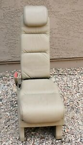 05 10 Honda Odyssey 2nd Row Middle Jump Seat Tan Leather