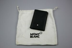 Mont Blanc Bussiness Credit Card Holder Black Leather
