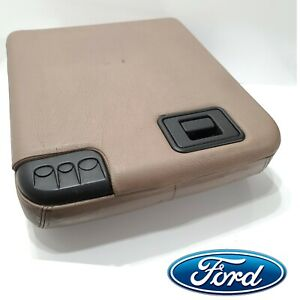 99 10 Ford F250 F350 Super Duty Center Jumpseat Console Lid Armrest Tan Oem