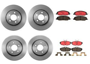 Brembo Front Rear Brake Kit Disc Rotors Ceramic Pads For Ford Mustang Gt Shelby