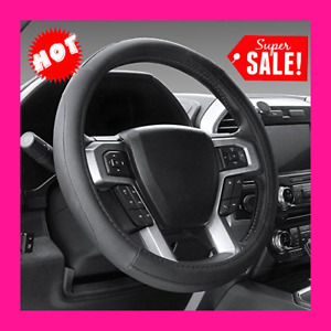 Steering Wheel Cover 15 5 16 Microfiber Leather For F 150 Tundra Etc Black