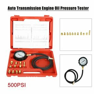 500psi Automatic Transmission Engine Oil Pressure Tester Gauge Diagnostic Tools