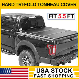 Hard Solid Tri Fold Tonneau Cover For 2010 2018 Dodge Ram 2500 Pickup 5 5 Bed