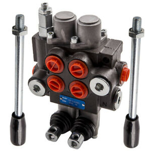 2 Spool Hydraulic Control Valve Flow Max 13 Gpm Adjustable For Small Tractors