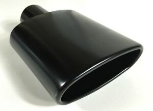 Exhaust Tip 2 25 Inlet 6 0 X 2 25 Outlet 9 0 Long Rolled Oval Angle Woa600250