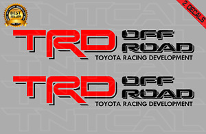 Toyota Trd Offroad Decal Set Tacoma Tundra Truck Bedside Vinyl Sticker Red