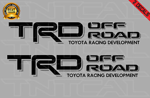 Toyota Trd Offroad Decal Set Tacoma Tundra Truck Bed Vinyl Sticker Black gray