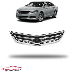 Fit For Chevrolet Impala 2014 2020 Front Upper Grille Grill Chrome Black