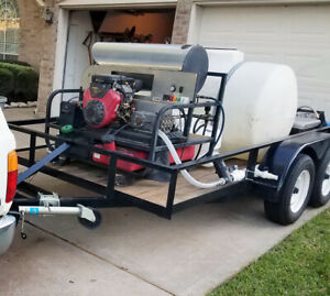 3500 Psi 5 5 Gpm 16 Hp Vanguard Hot Water Pressure Washer Trailer Rig