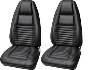 1970 Dodge Charger 500 R T Black Bucket Seat Covers Legendary In Stock