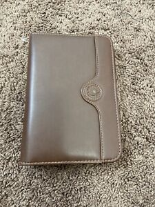 Day Runner Fact Planner Organizer Brown Faux Leather