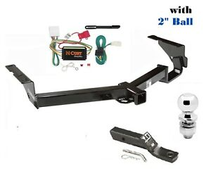 Trailer Hitch Package W 2 For 2008 2013 Toyota Highlander Except W 19 Spare