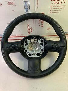 Mini Cooper R55 R56 R60 Sport Black Leather 3 Spoke Steering Wheel 6782595