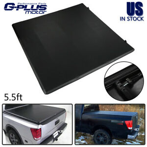 Lock Soft Tri Fold Tonneau Cover For 2004 2015 Nissan Titan Extra 5 5 Short Bed