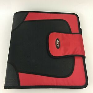 Case It 3 ring Zipper Binder 2 Capacity Colored Tabbed Expandable File Pockets