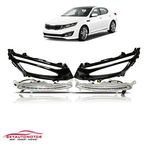 Fit For 2011 2013 Kia Optima Lx ex sx Front Daytime Running Light Led With Bezel