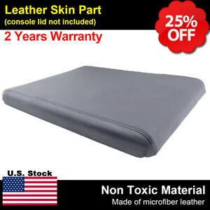 Fits 94 01 Dodge Ram Center Console Armrest Leather Synthetic Cover Gray 19x15