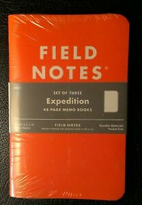 Field Notes Expedition Sealed 3 pack Notebooks Waterproof Paper Fnc 17