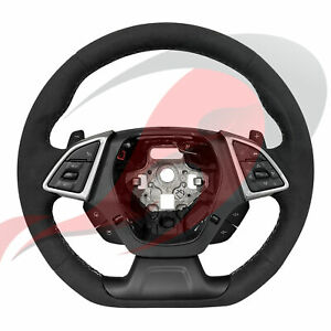 2016 2021 Camaro Gm Non Heated Automatic Suede Steering Wheel Gray Stitching