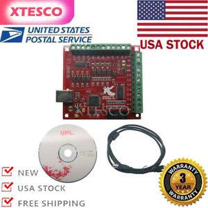 us cnc Usb Mach3 100khz Breakout Board 4axis Interface Driver Motion Controller
