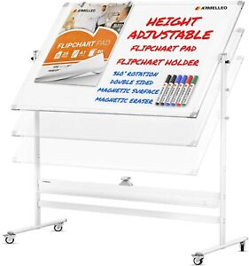 Creative Space Standing Mobile Whiteboard 48x36 Portable Magnetic Dry Erase