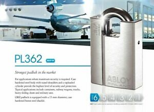 Abloy Pl 362 t W Keys Id Card Protec2 High Security Shrouded Shackle Padlock