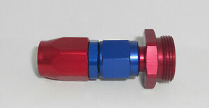 Billet Aluminum Holley Fuel Line Carb To 9 16 Hose Adapter Red Blue Anodized