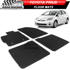 Fits 10 11 Toyota Prius 4dr Oe Fitment Car Floor Mats Front Rear Black Nylon