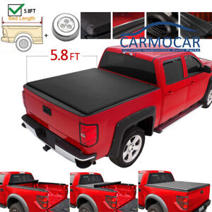 5 8 Bed Roll Up Tonneau Cover For Chevy Silverado Gmc Sierra 2007 2013