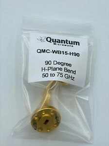 Wr 15 V band 90 Degree H plane Bend Gold Plated By Quantum Microwave