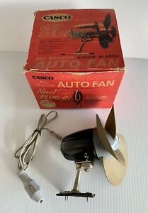 Vintage Casco Jet Stream Car Rubber Bladed Auto Fan F102 W Original Box Working