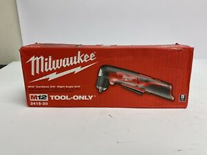 Milwaukee 2415 20 M12 Li ion 3 8 In Right Angle Drill Driver bt New