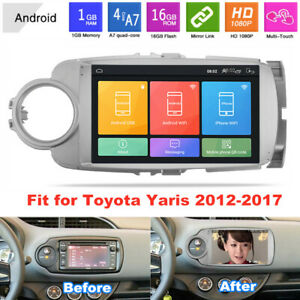 9 Android 9 1 Car Radio Gps Mp5 Player 1g 16g Wifi Fit For Toyota Yaris 2012 17