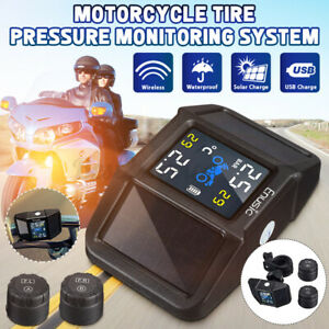 Motorcycle Tpms Tire Accessories Pressure Monitoring System External Sensors Kit