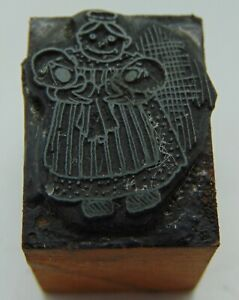 Printing Letterpress Printers Block Woman Holding 2 Crying Baby s