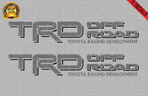 Toyota Trd Offroad Decal Set Tacoma Tundra Truck Bed Vinyl Sticker Gray black